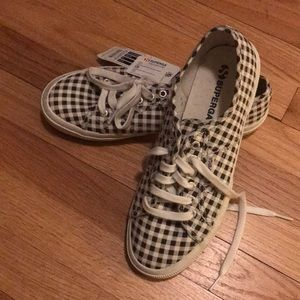 Black and white Gingham Supergas